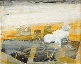 Cooling Towers 1 by Day Bowman, Painting, Mixed Media on paper